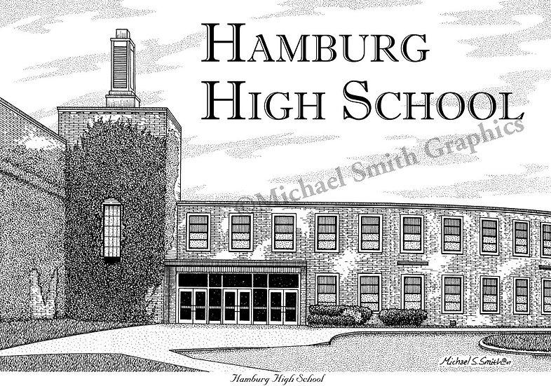Hamburg High School art print by Michael Smith