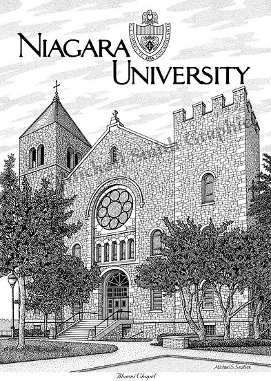 Niagara University Alumni Chapel art print by Michael Smith