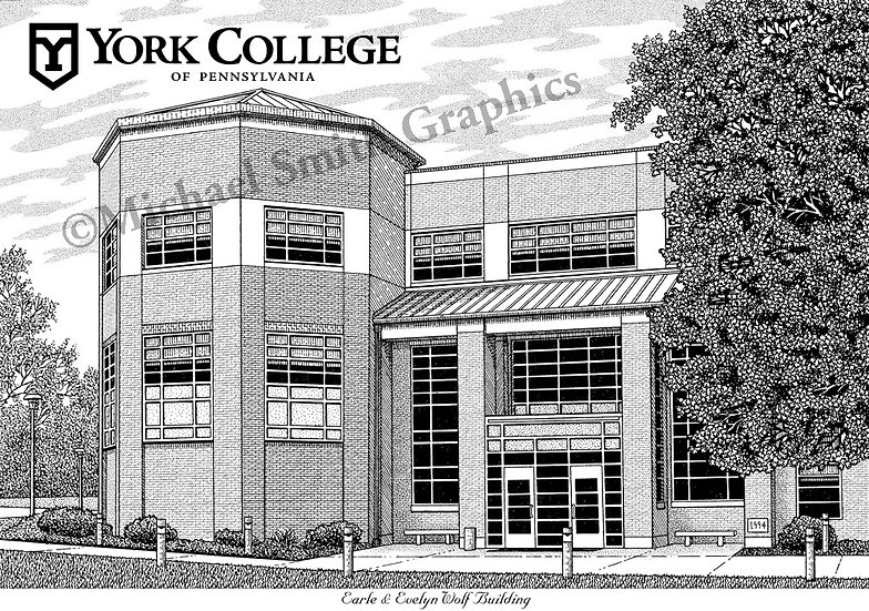 York College of Pennsylvania art print by Michael Smith