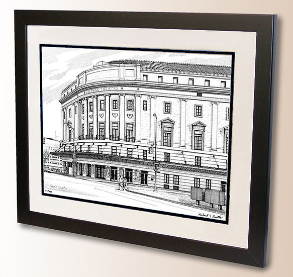 Eastman Theater - Rochester NY art print by Michael Smith