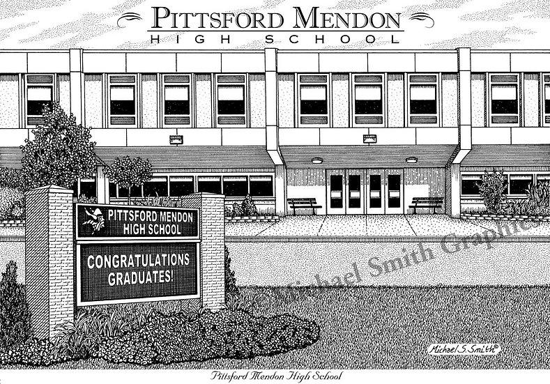 Pittsford Mendon High School art print by Michael Smith
