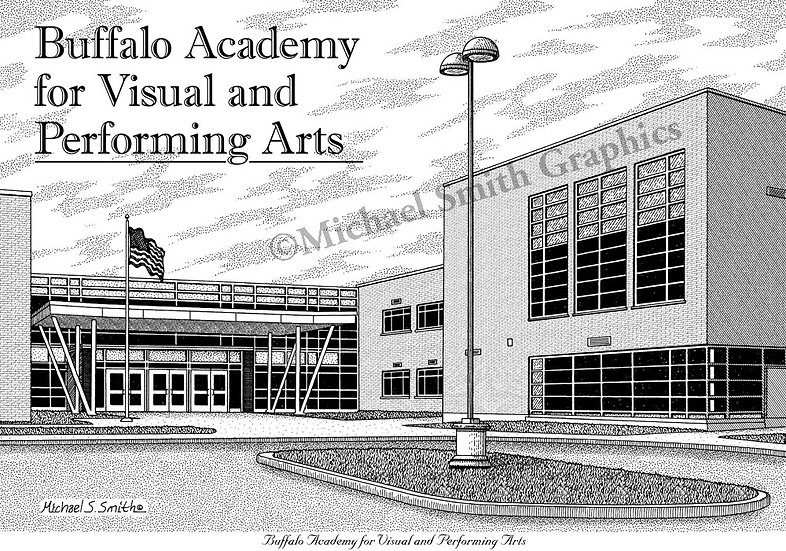 Buffalo Academy for Visual and Performing Arts art print by Michael Smith