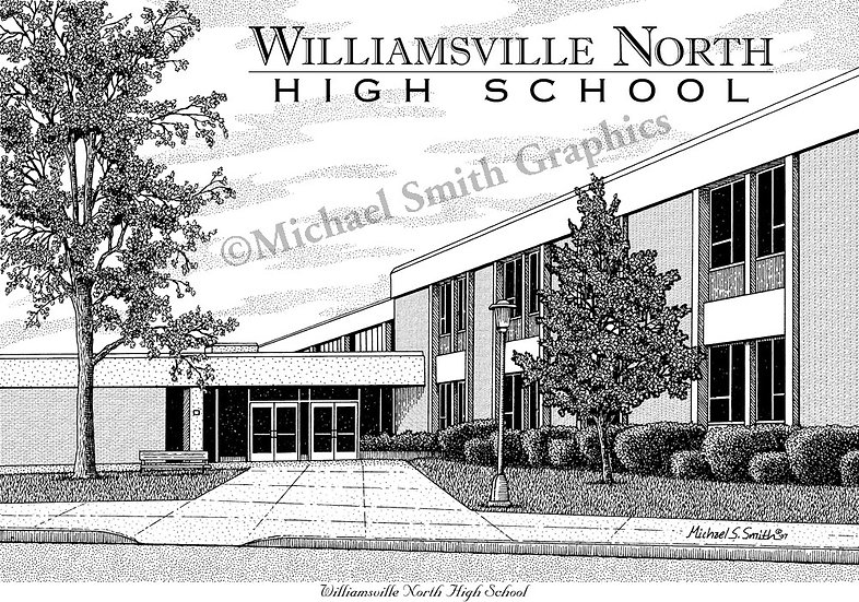 Williamsville North High School art print by Michael Smith