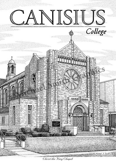 Canisius College Christ the King Chapel art print by Michael Smith