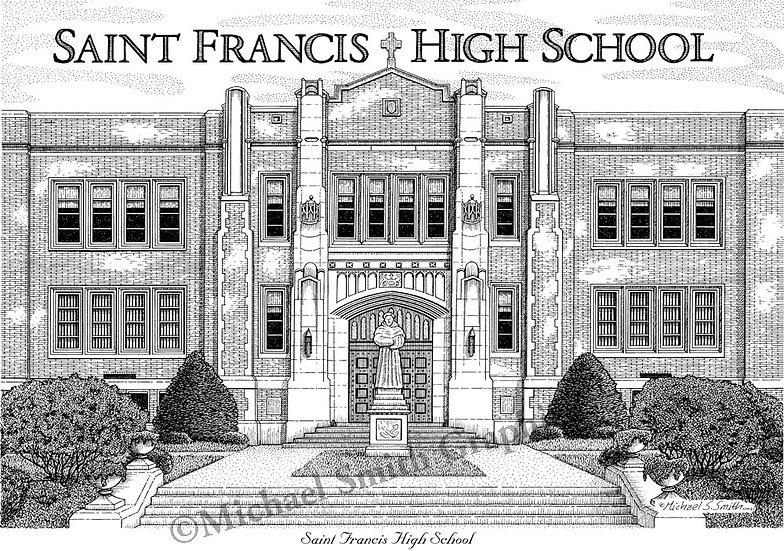 Saint Francis High School art print by Michael Smith