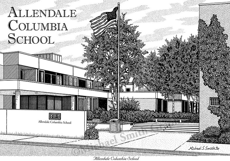 Allendale Columbia School art print by Michael Smith