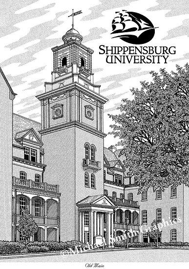 Shippensburg University art print by Michael Smith