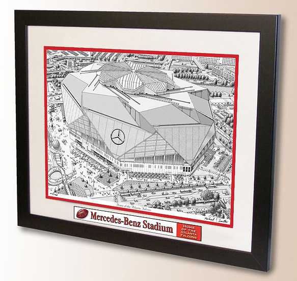 Mercedes-Benz Stadium wall art