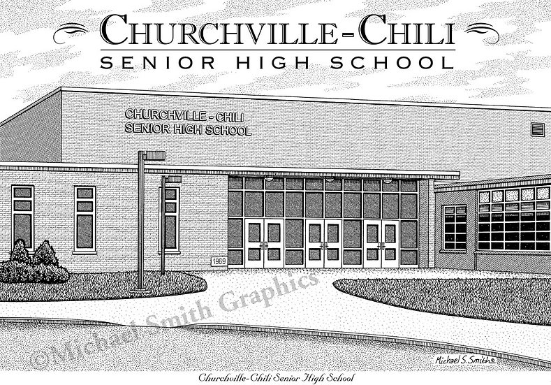 Churchville Chili High School art print by Michael Smith