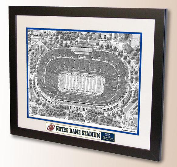 Notre Dame Stadium wall art