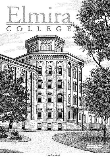 Elmira College art print by Michael Smith