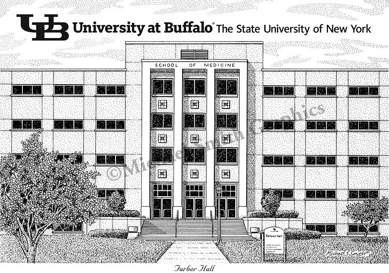 UB School of Medicine and Biomedical Sciences art print by Michael Smith