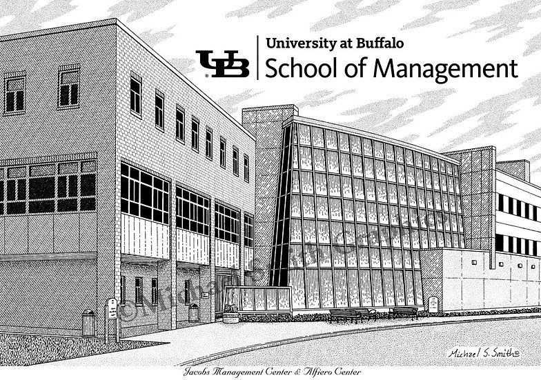 UB School of Management art print by Michael Smith
