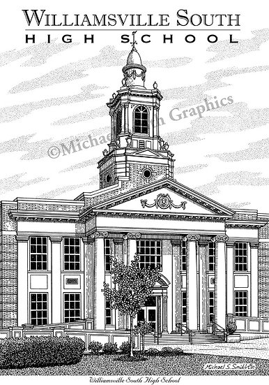Williamsville South High School art print by Michael Smith