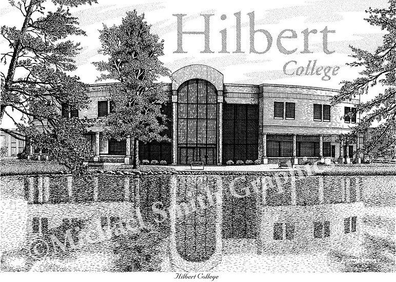Hilbert College art print by Michael Smith