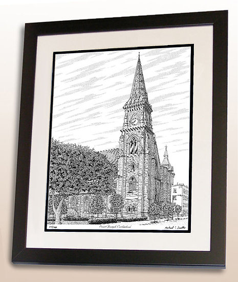 Saint Joseph Cathedral in Buffalo, NY art print by Michael Smith