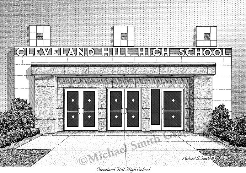 Cleveland Hill High School art print by Michael Smith
