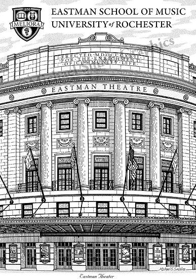 Eastman School of Music art print by Michael Smith