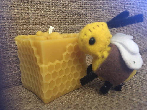 "2"" Square bee candle"