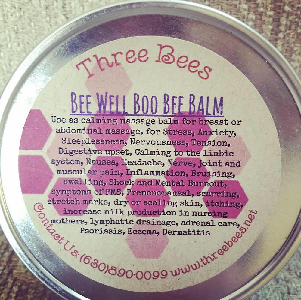 Three Bees Boo Bee Balm
