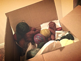 Don't worry; the yarn arrived safely.
