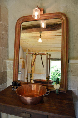 SALLE DE BAIN LODGE MIRMANDE DROME