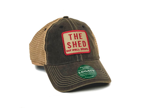 """The Shed Restaurant Navy Trucker """"Eat Well. Drink."""""""