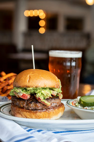 HEAT BURGER with guacamole and peppers.j
