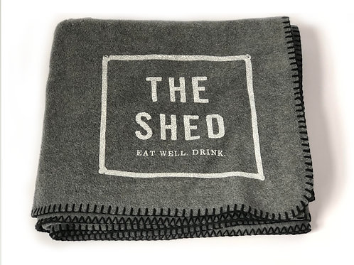 The Shed Restaurant Fleece Whipstitch Blanket