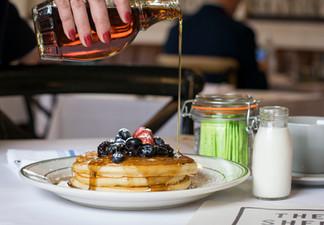 Amazing Pancakes at Shed Restaurant Huntington Pancake Breakfast