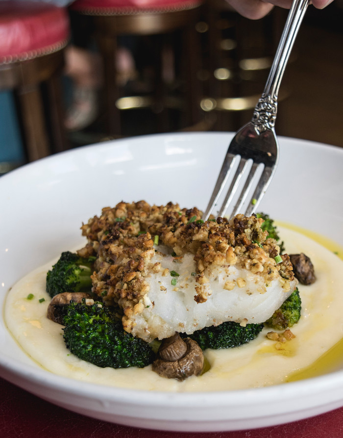 The Shed Restaurant Walnut Crusted Cod special