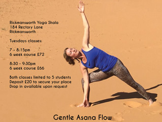 Rickmansworth Yoga - New course of sessions starting Tuesday 11th June. Places available for the 7pm