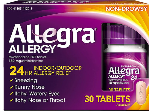 Allegra Adult 24 Hour Allergy Relief Tablets