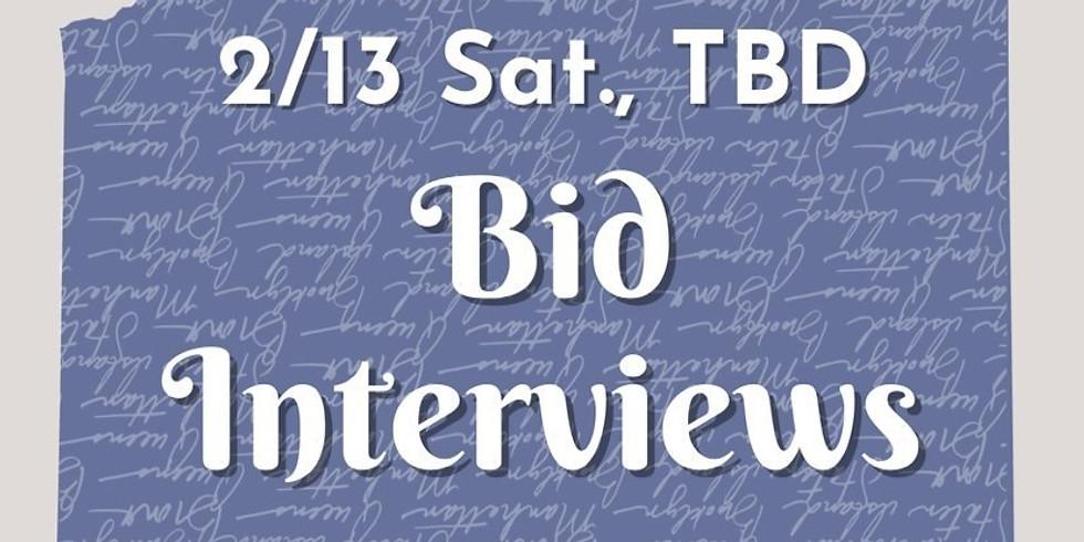 Bid Interviews