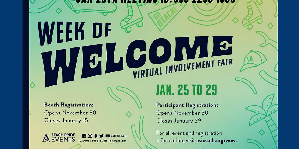 Week of Welcome Jan 29th