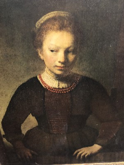 Young Girl at Open Half Window