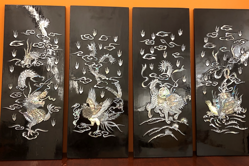 China Lacquer  black wall panels