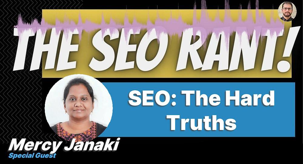 Mercy Janaki on the SEO Rant Podcast