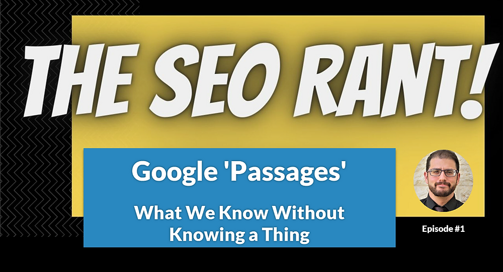 The SEO Rant Podcast Banner for Episode #1