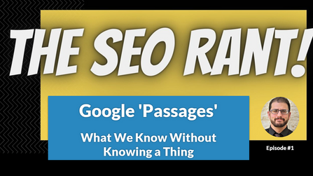Episode #1: Going Hog Wild With Google Passages Speculation