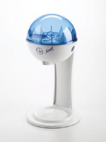Dispenser 946 ml con supporto da tavolo - bianco/blu