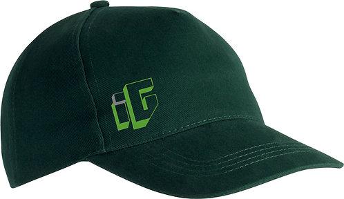 Cappellino in cotone pesante pettinato colore verde