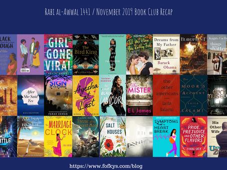 Rabi al-Awwal 1441 / November 2019's Book Club Recap