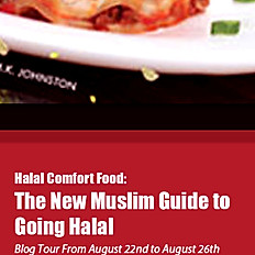 Free Bookmark for 'Halal Comfort Food' by M.K.Johnston