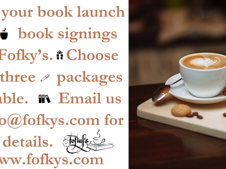 Host Your Book Launch With Fofky's