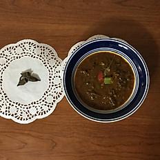 Dried Tiny Okra Stew with Rice