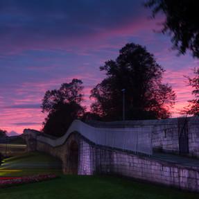 Walls during sunset