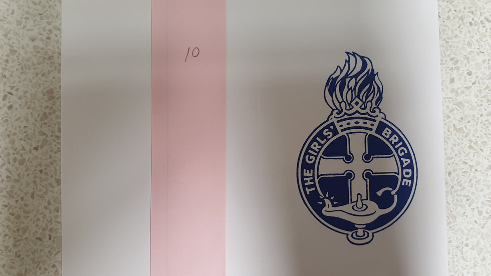 White Blank Cards with Navy Crest