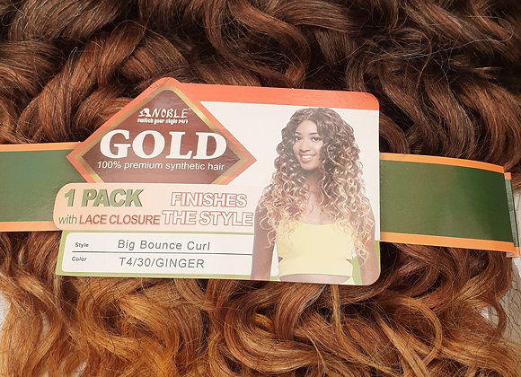 Golden hair with lace closure