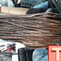 Beautiful box braid with free Extensions